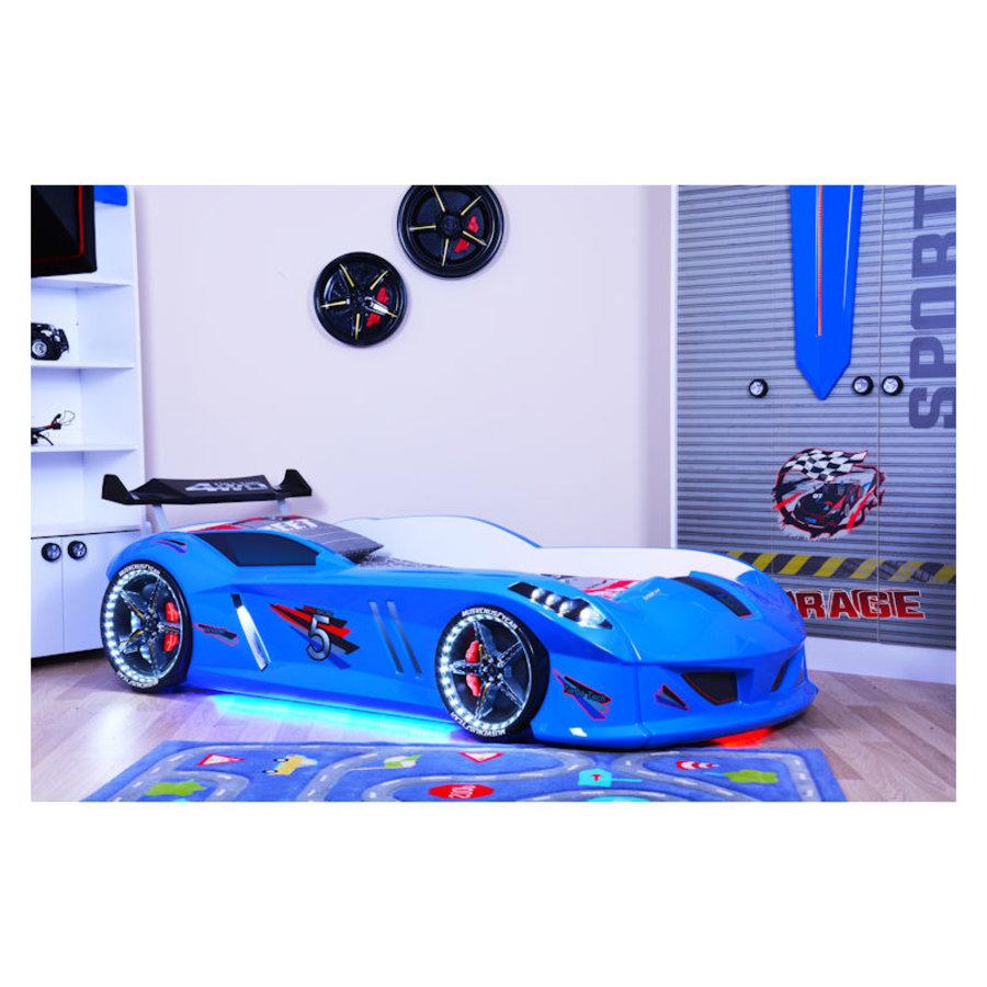 Autobed - Raceauto bed Drag Racing - blauw-1