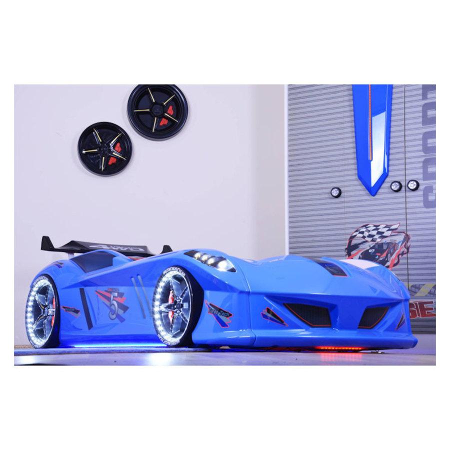 Autobed - Raceauto bed Drag Racing - blauw-3