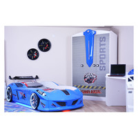 thumb-Autobed - Raceauto bed Drag Racing - blauw-4