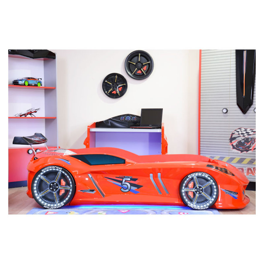 Autobed - Raceauto bed Drag Racing - rood-2