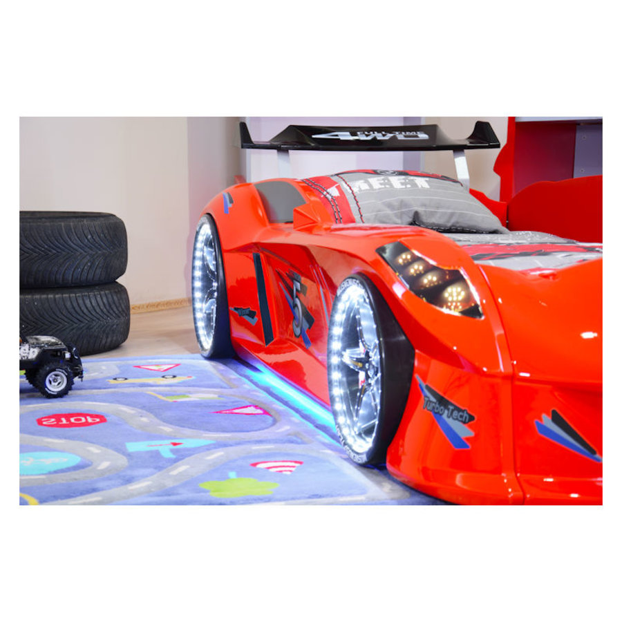 Autobed - Raceauto bed Drag Racing - rood-4