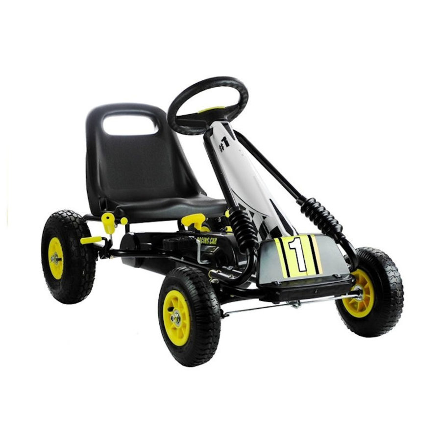 Go-Cart Racing Car met luchtbanden met handrem-1