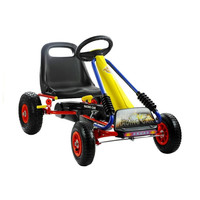 thumb-Go-Cart Racing Car met luchtbanden met handrem-2