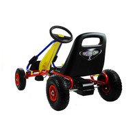 thumb-Go-Cart Racing Car met luchtbanden met handrem-4