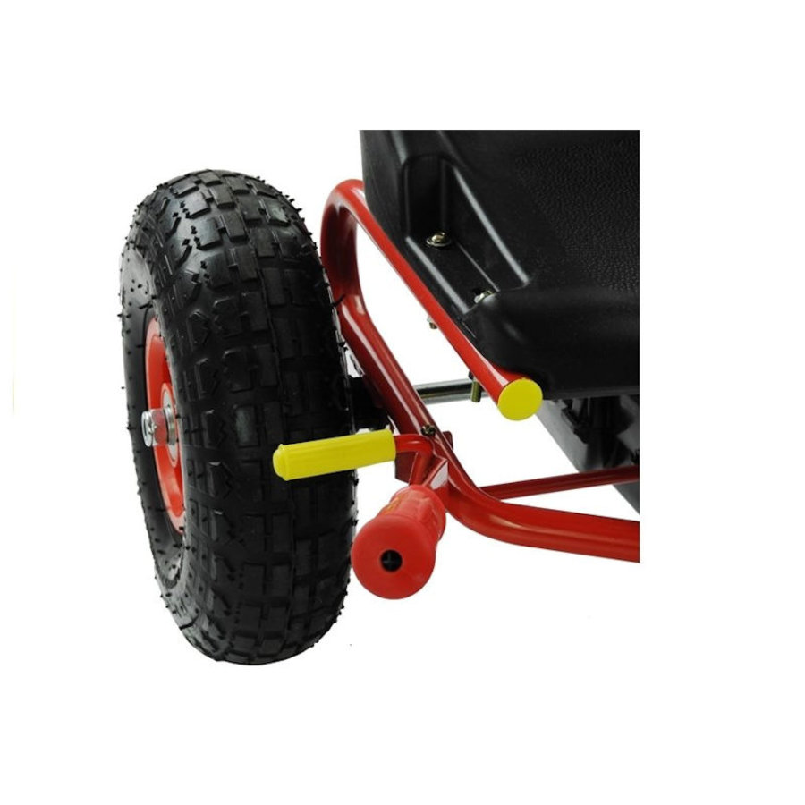 Go-Cart Racing Car met luchtbanden met handrem-7