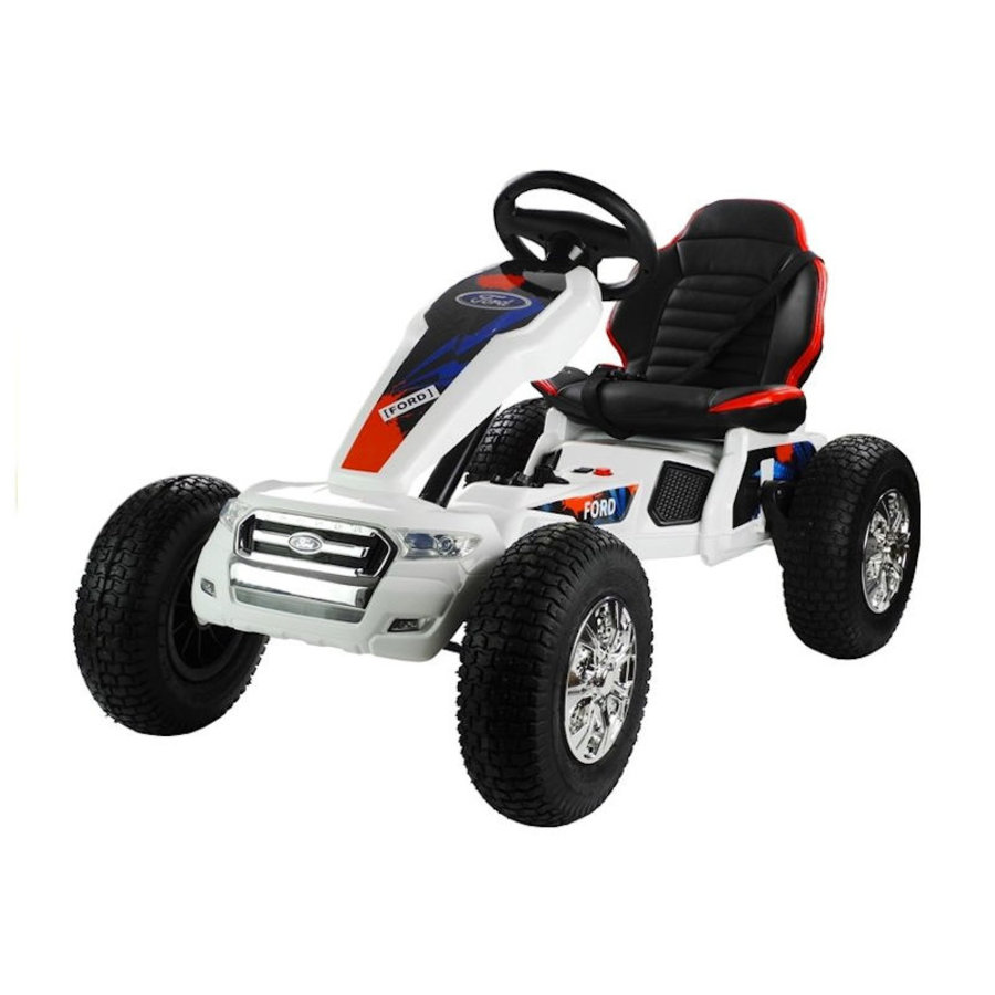 Elektrische Skelter - Go-cart Ford - wit-2