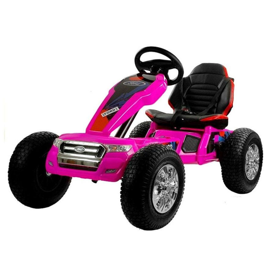 Elektrische Skelter - Go-cart Ford - roze-2