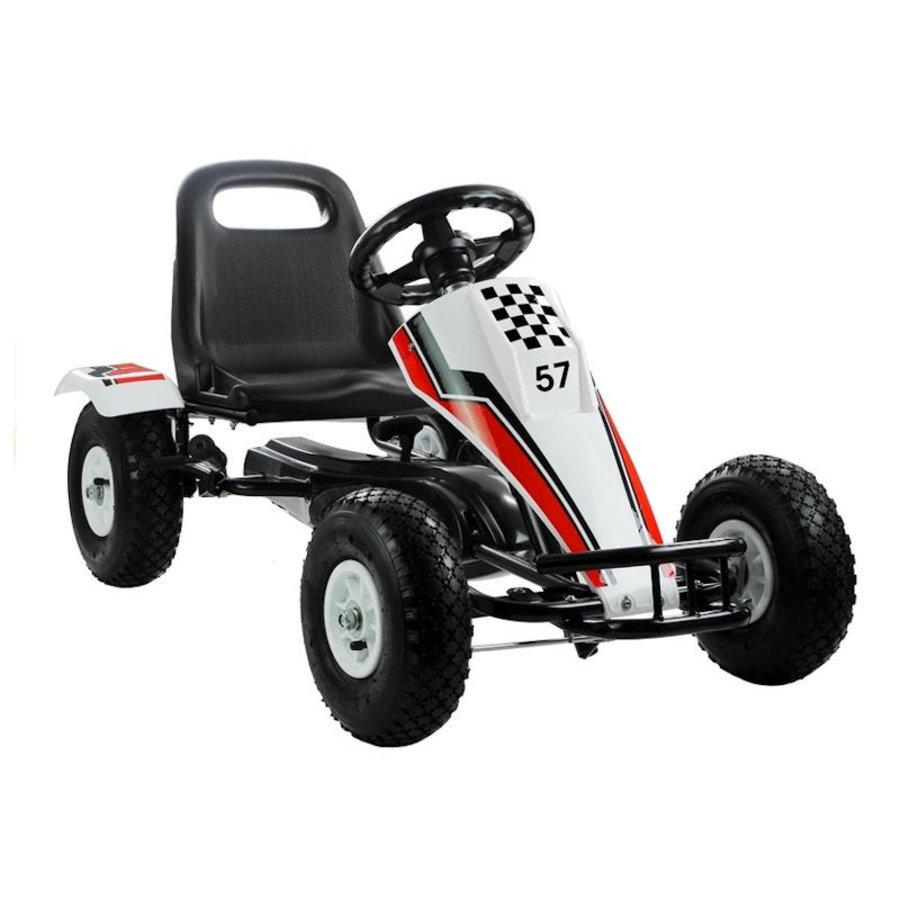 Go-Cart Race met luchtbanden met handrem-1