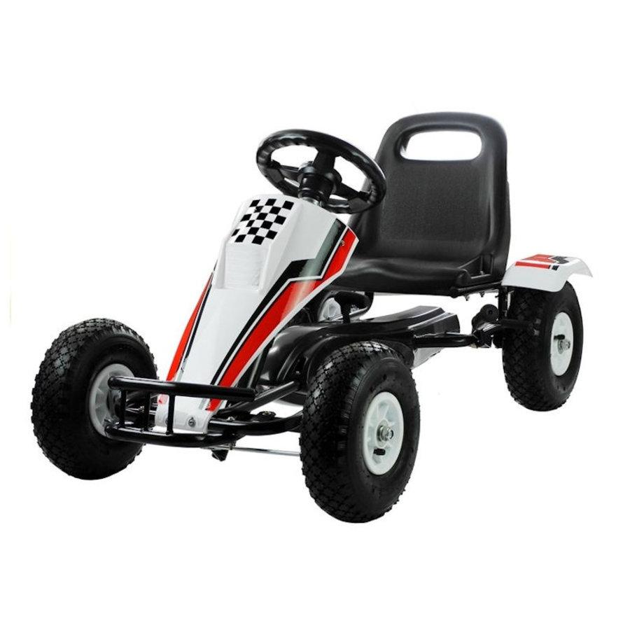 Go-Cart Race met luchtbanden met handrem-2