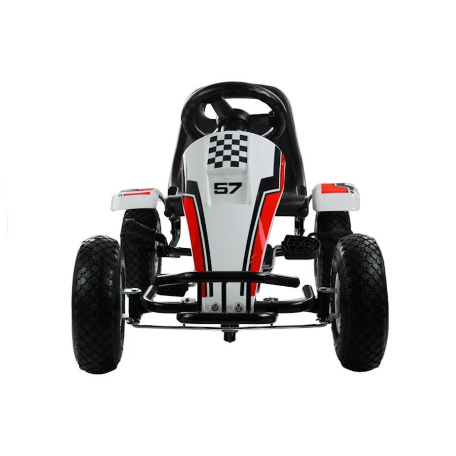 Go-Cart Race met luchtbanden met handrem-3