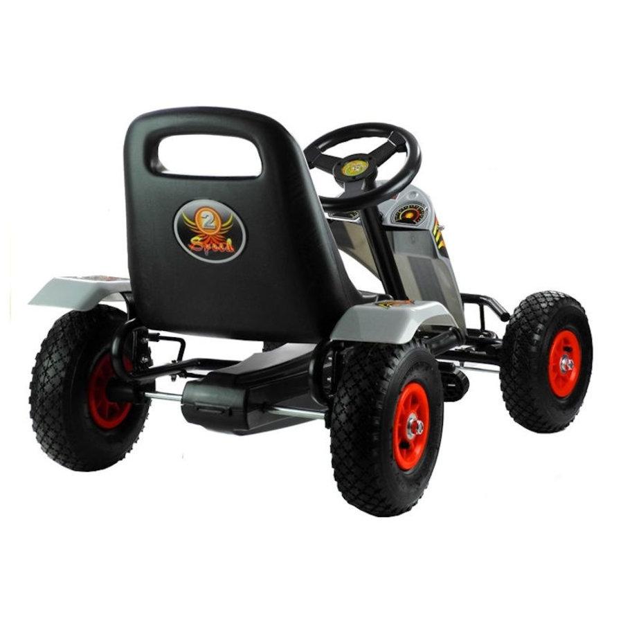 Go-Cart Race met luchtbanden met handrem-4