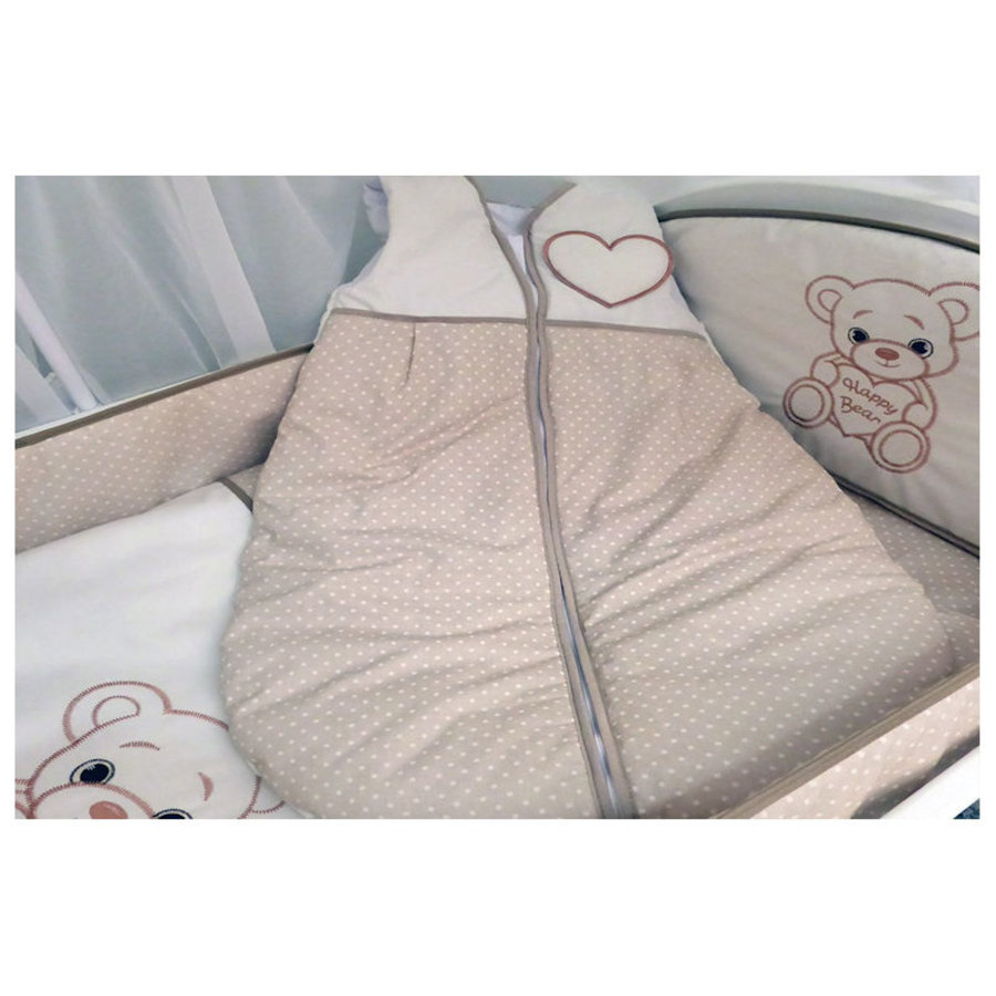 Baby slaapzak Happy Bear - beige-2
