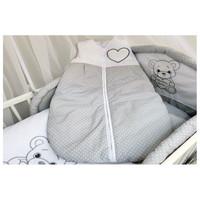 thumb-Baby slaapzak Happy Bear - grijs-1