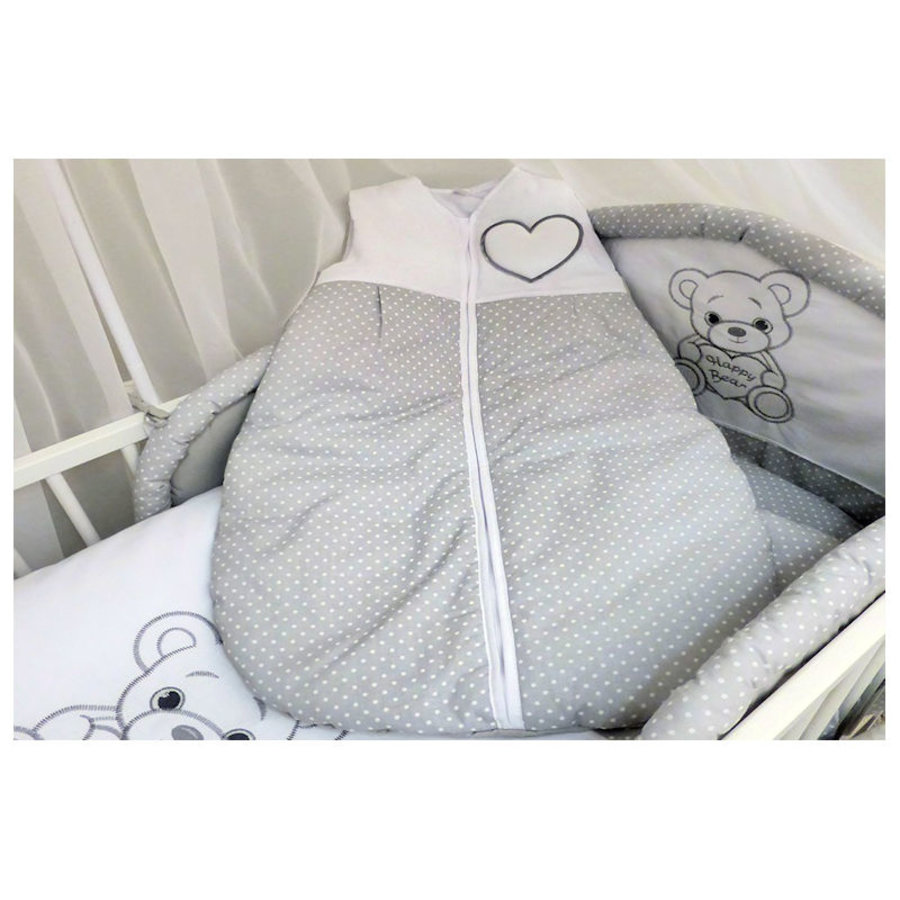 Baby slaapzak Happy Bear - grijs-1