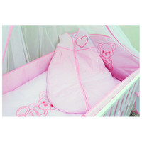 thumb-Baby slaapzak Happy Bear - roze-2