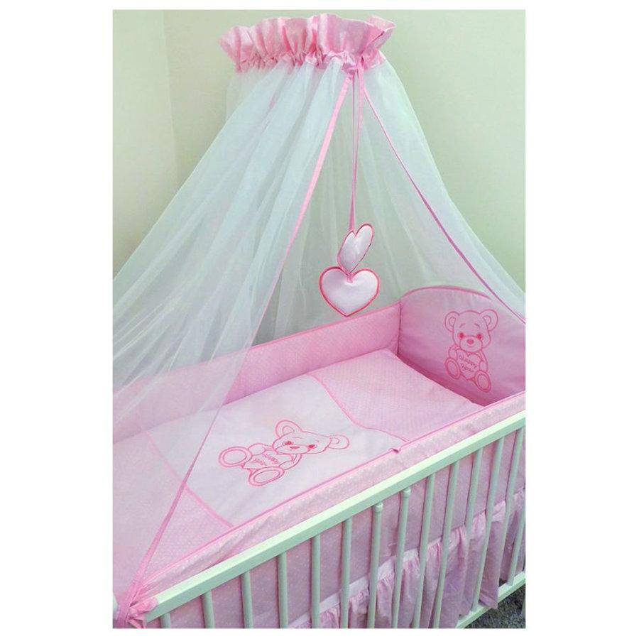 Bed hemeltje Happy Bear - roze-2