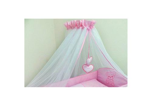 Bed hemeltje Happy Bear - roze