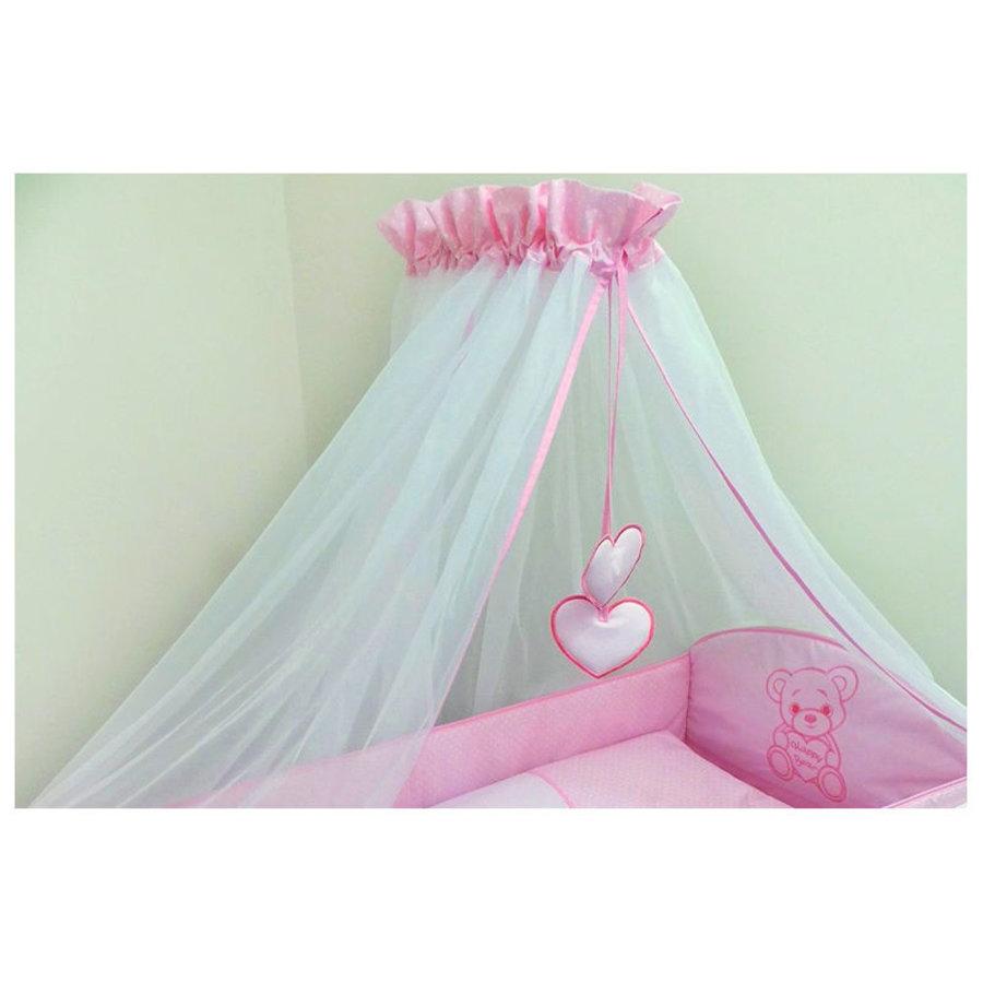 Bed hemeltje Happy Bear - roze-1