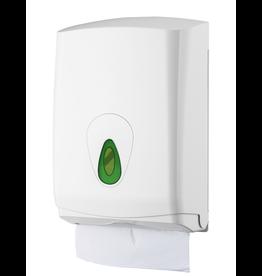 VSB Handdoekdispenser Maxi Kunststof Wit voor 500 vel Vulling