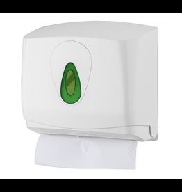 VSB Handdoekdispenser Mini Kunststof Wit voor 250 vel Vulling