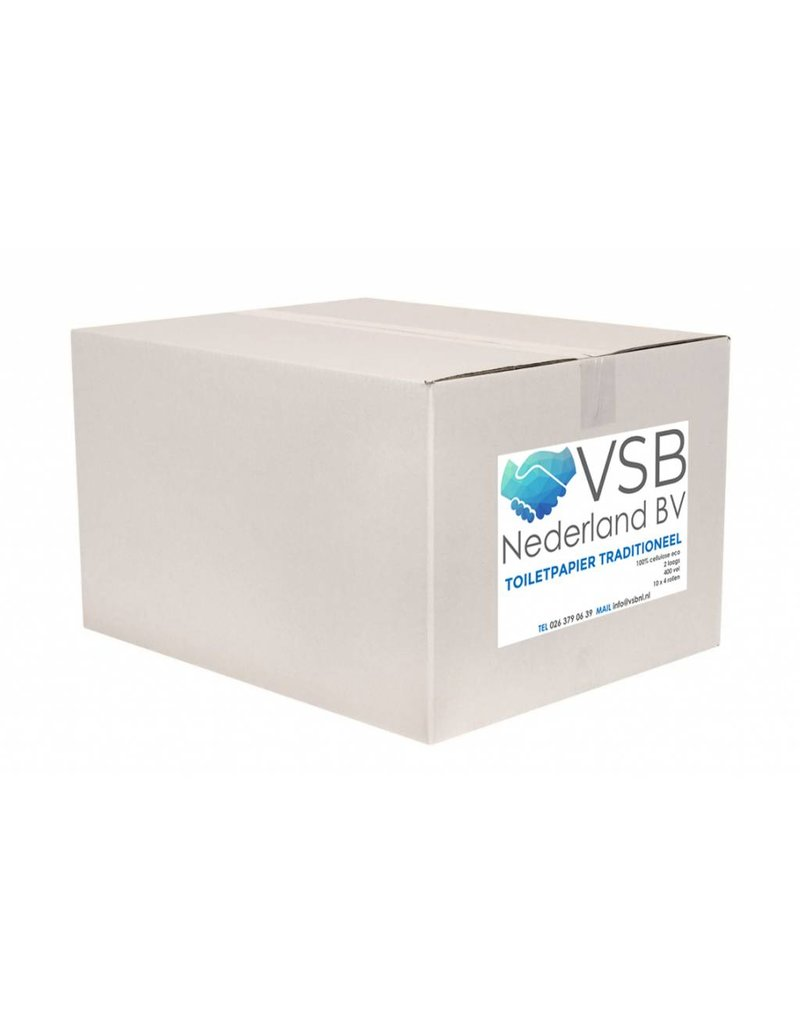 VSB Pallet Toiletpapier Traditioneel Cellulose | 40 x 400 Vel - 2 Laags