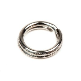 Midnight Moon Splitring Rond RVS 10 pcs.