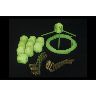 Gemini Tackle Glow In The Dark Heads, Std Grips and PVC (1 x 10st)
