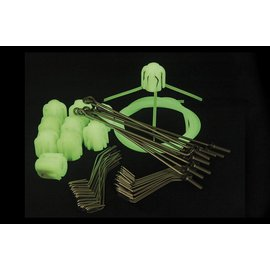 Gemini Tackle Long Grip Assembly Kit Glow  - Long Tail Wires (1 x 10st)