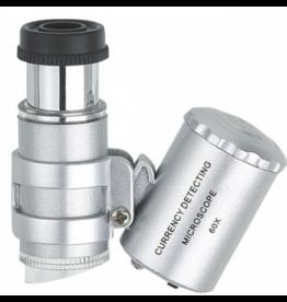 LED Scope, Mini-Mikroskop mit LED-Beleuchtung, Vergrößerung 60-fach