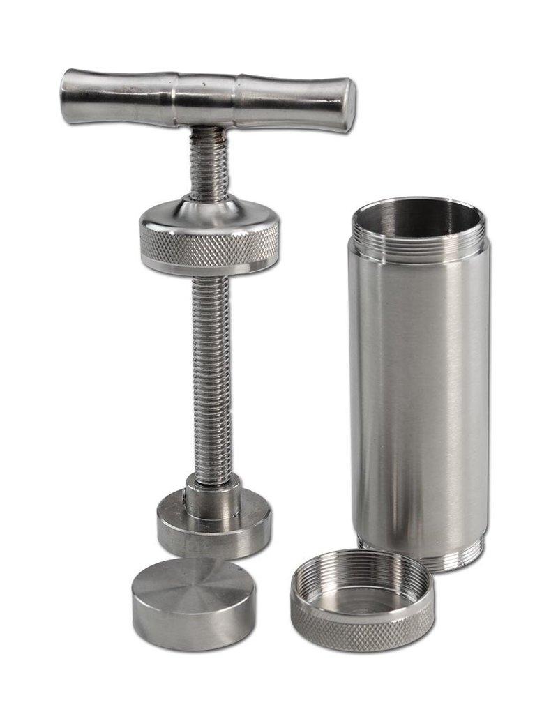 Kräuterpresse Edelstahl Presse L Durchmesser 30mm