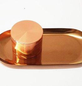 Alu Grinder Rosé Gold 4tlg. mit Rolling Tray