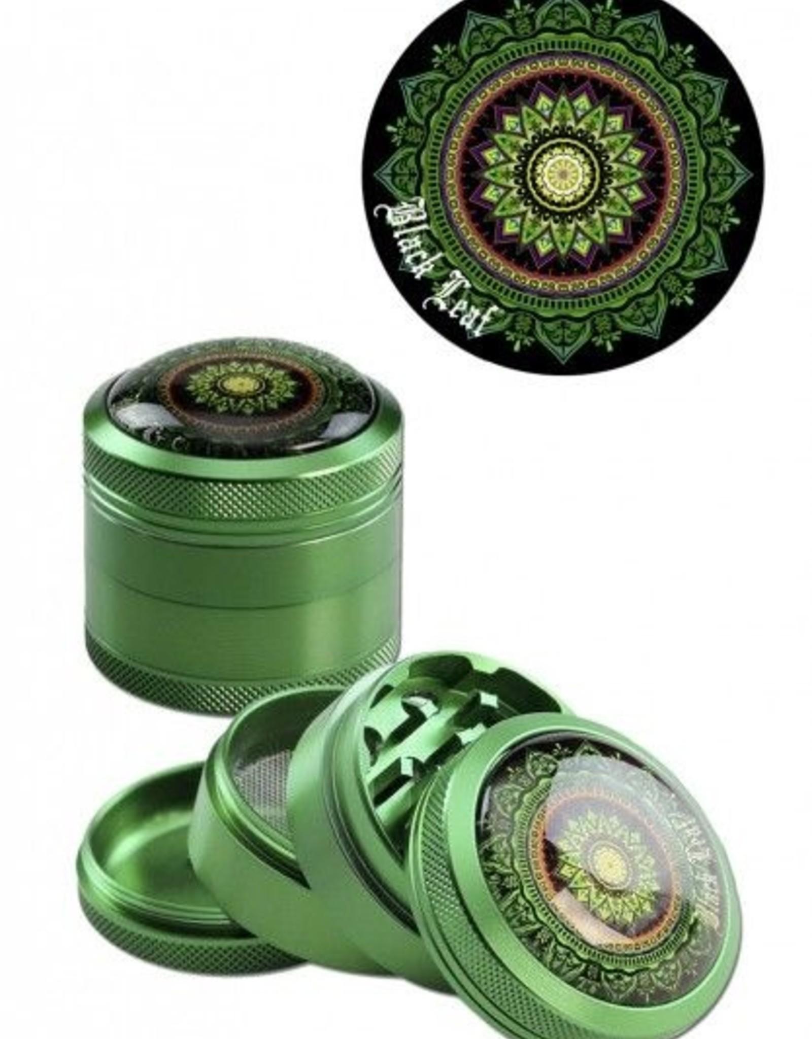 Black Leaf Alu Grinder Mandala grün 4tlg,