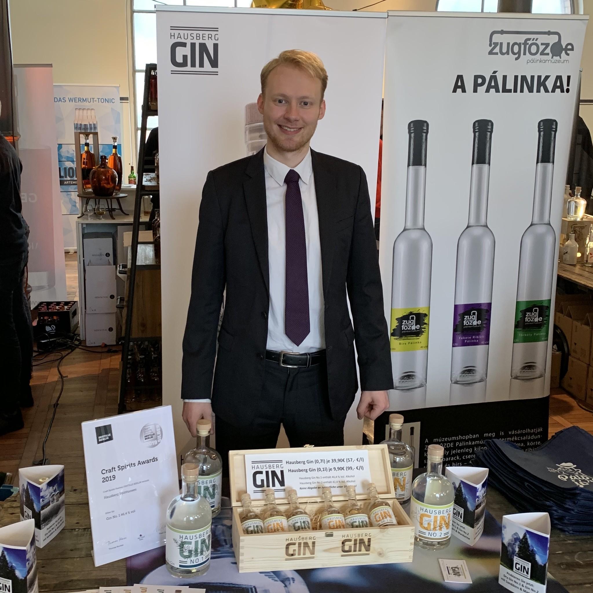 Hausberg Gin No.1 gewinnt den Award in Silber auf dem Craft Spirits Festival in Berlin 2019