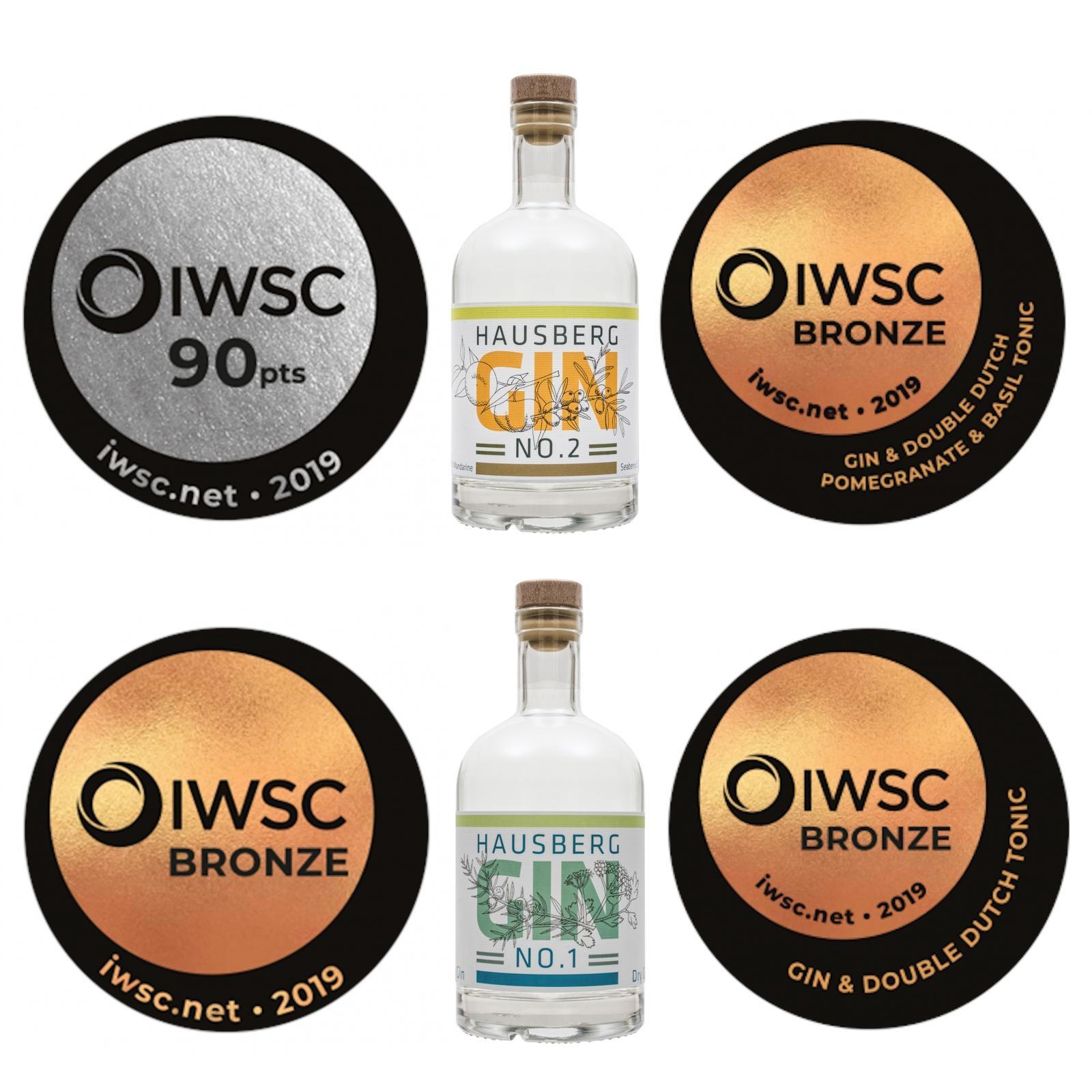 Hausberg Gin: Ein Jahr - zwei Gins - fünf hochrangige Auszeichnungen