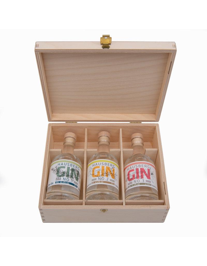 Hausberg Gin Hausberg 3x Gin-Tasting Box w/ No.1 & No.2 & No.3 0,1l - 43,5 % Vol. Alc. (100€/Liter)