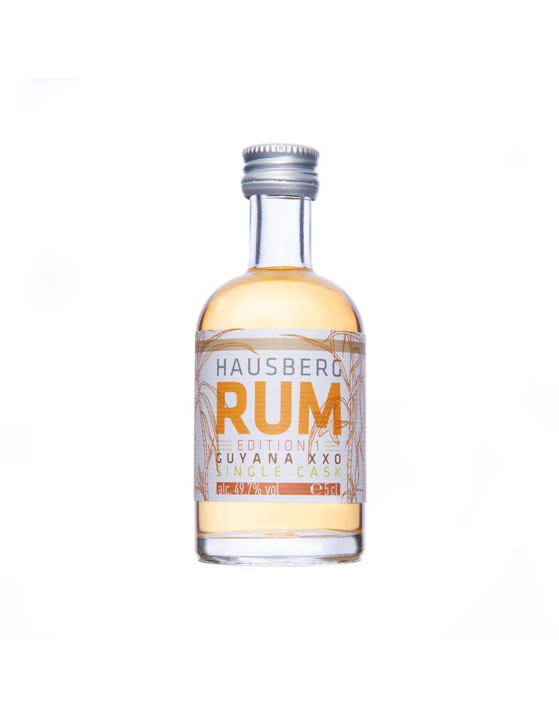 Hausberg Rum Hausberg Rum Edition 1 Guyana XXO Single Cask  0.05l w/ 49,7 % Vol. Alc. (198 €/Liter)