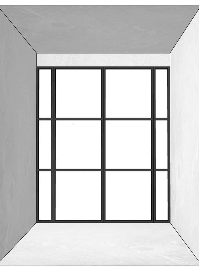 Dubbele stalen deur  met zijpanelen
