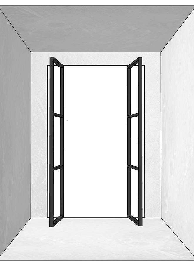 Dubbele stalen deur