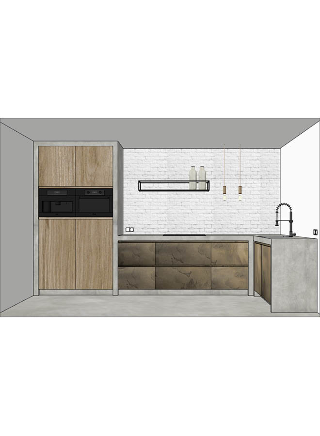 Molitli-Keuken metal front (prijs op aanvraag)
