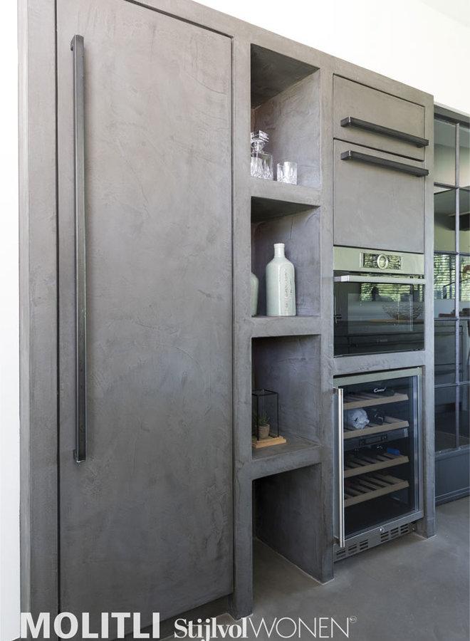 Molitli-Keuken beton front + greep (prijs op aanvraag)