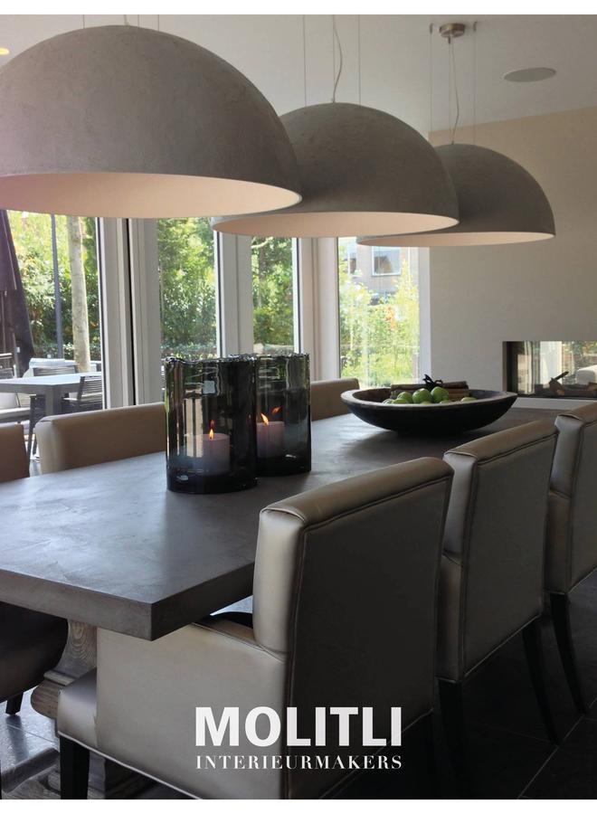 Betonstuc koepellamp - Perfect grey
