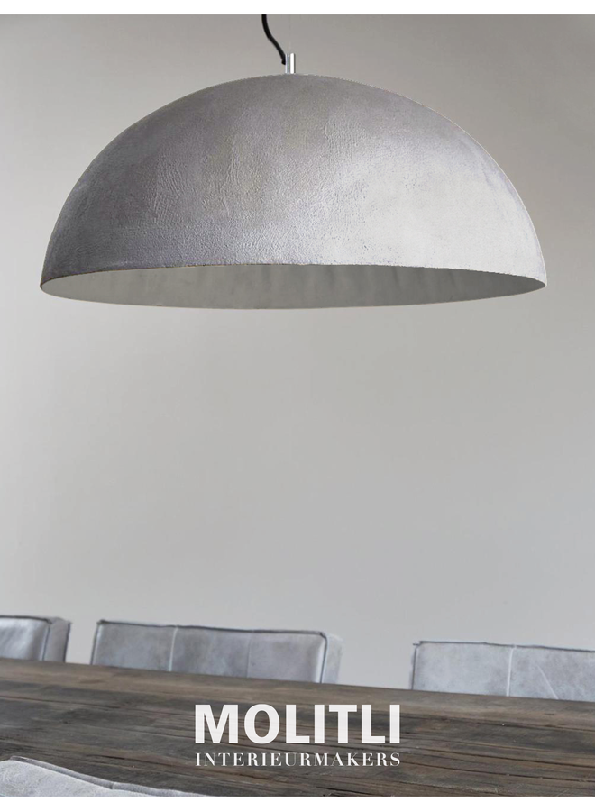 Betonstuc koepellamp - Off white