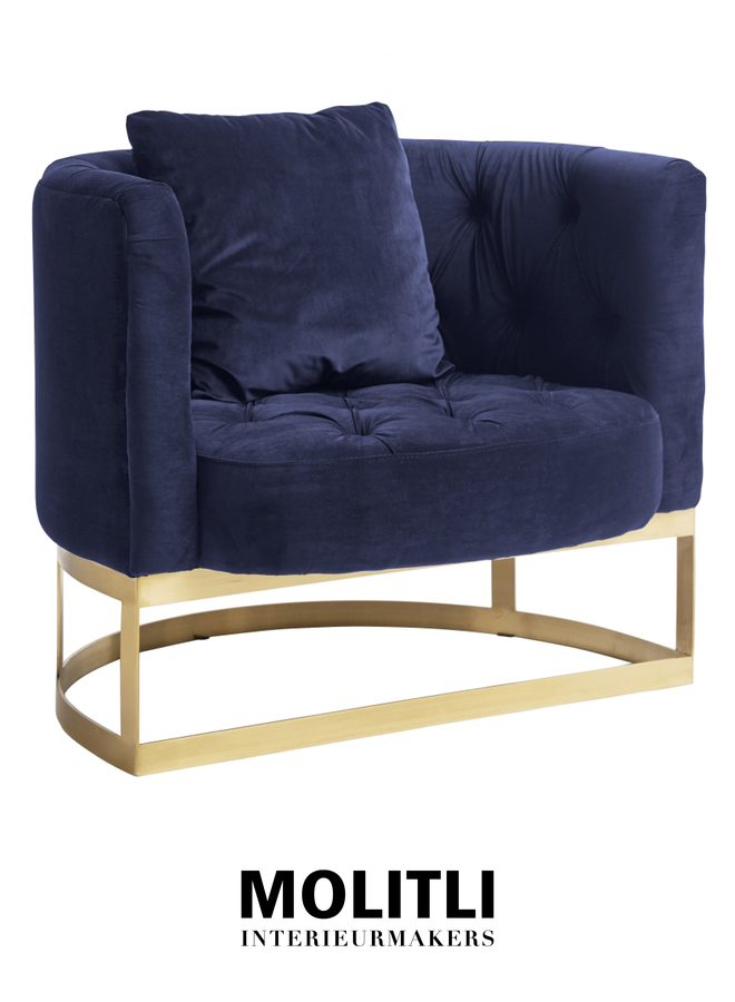 Fauteuil - Gaia donkerblauw