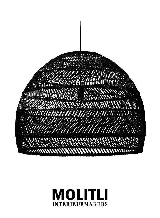 Hanglamp - Rotan lamp Nina Black Large