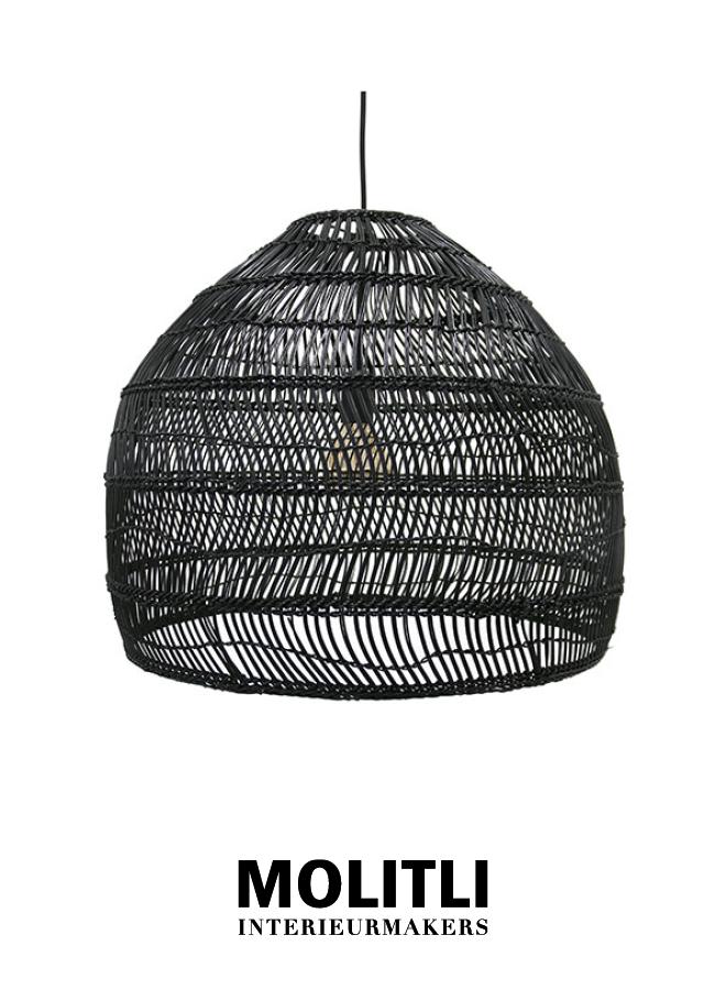 Hanglamp - Rotan lamp Nina Black Small