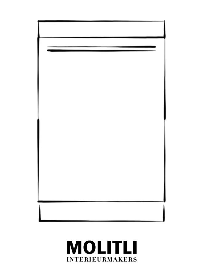 Kast met deur links 60 cm - blad 8 cm dik - Kast 60 cm breed