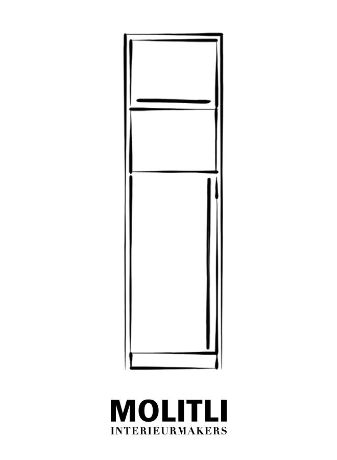 Kast + oven - Ombouw 4 cm dik Kast + koelkast - Ombouw 4 cm dik - Kast 68 cm breed