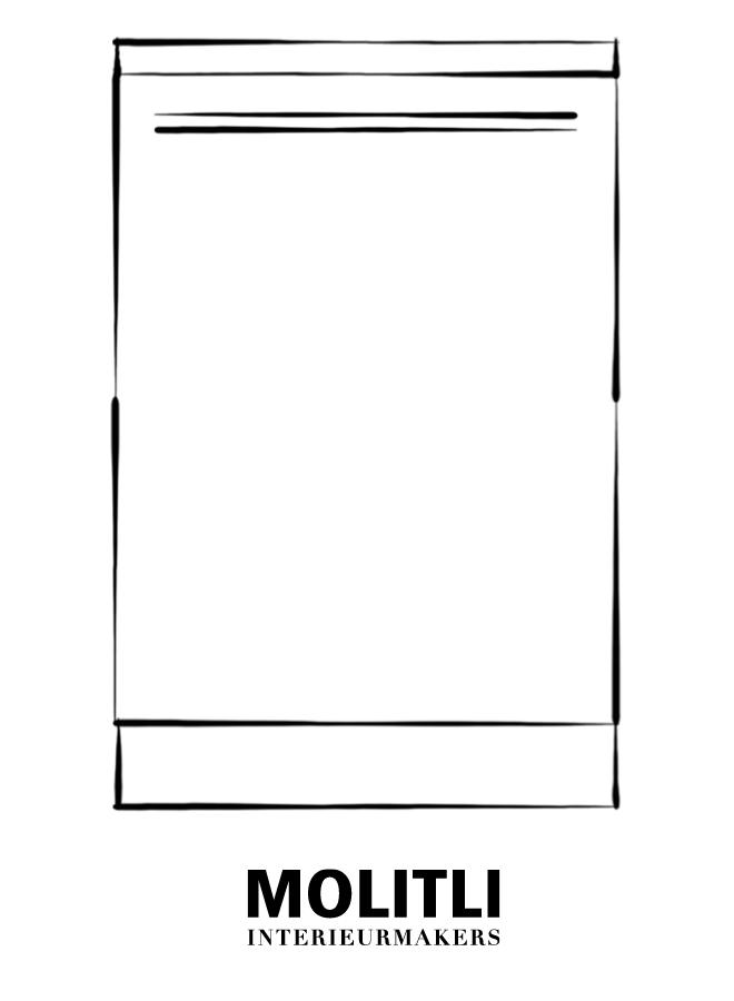 Greep zwart poedercoat 1,5 cm dik - 52 cm lang