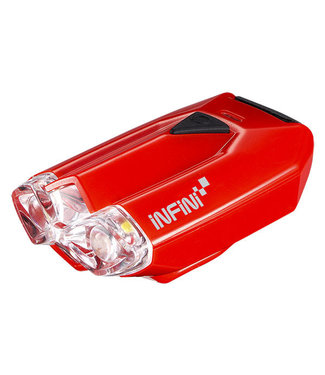 Infini Lava super bright micro USB front light with QR bracket red Red