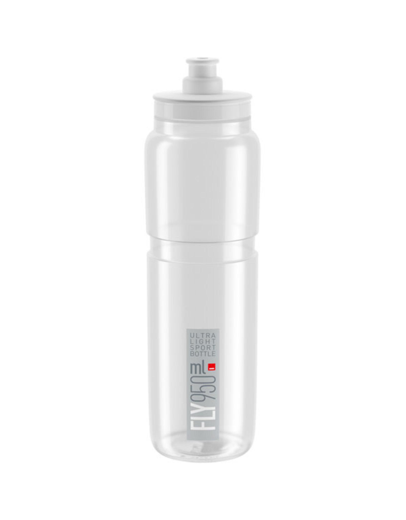 Elite FLY H2O BOTTLE CLEAR W/ GREY LOGO 750ml